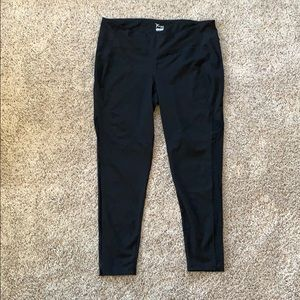 Old Navy compression leggings black mesh XXL